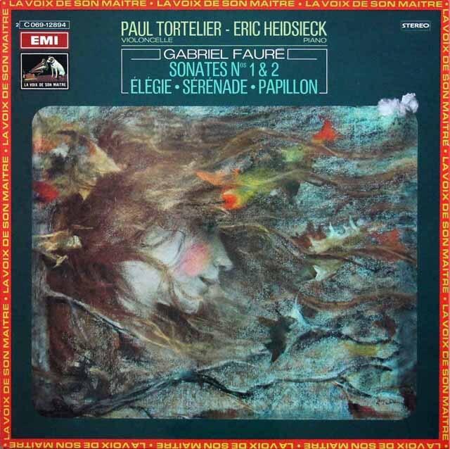 トルトゥリエ、ハイドシェックのフォーレ/チェロソナタほか 仏EMI(VSM) 3334 LP レコード