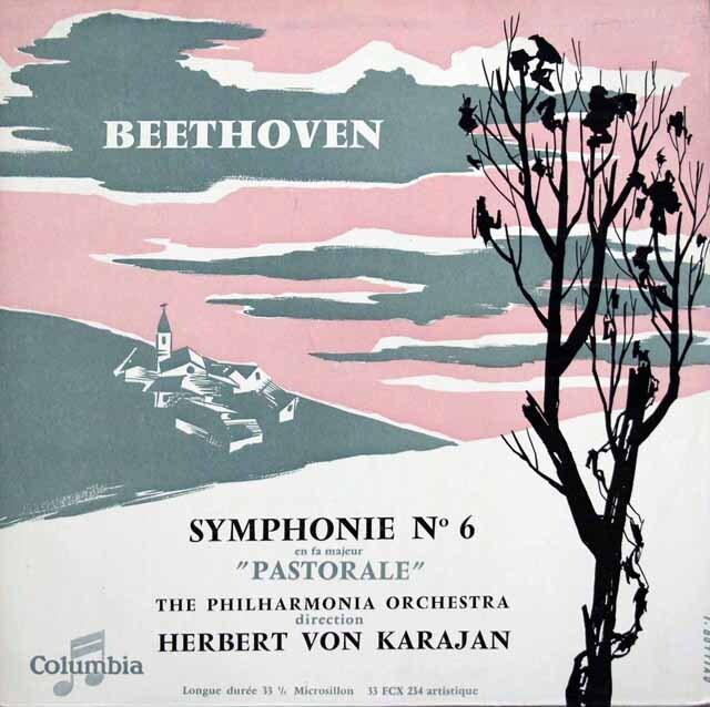 カラヤンのベートーヴェン/交響曲第6番「田園」 仏Columbia 3334 LP レコード
