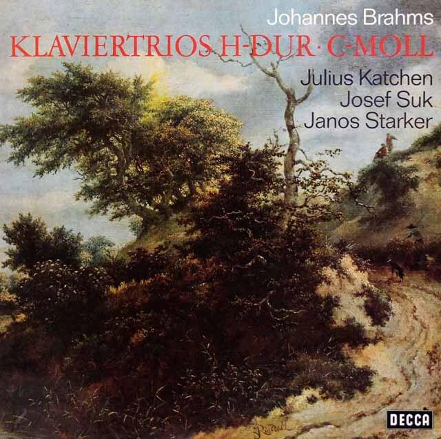 カッチェン、スーク、シュタルケルのブラームス/ピアノ三重奏曲第1、3番 独DECCA 3334 LP レコード