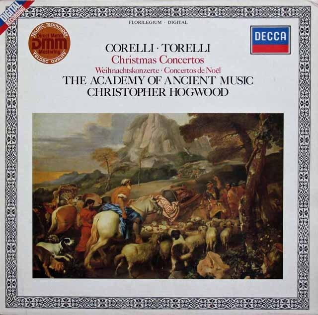 ホグウッドの「クリスマス・コンサート」 (コレッリ、トレッリ、バッハ、ヘンデルほか) 独DECCA 3334 LP レコード