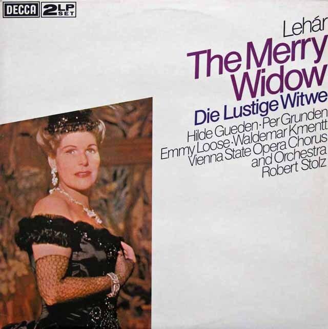 シュトルツのレハール/「メリー・ウィドウ」全曲 英DECCA 3334 LP レコード