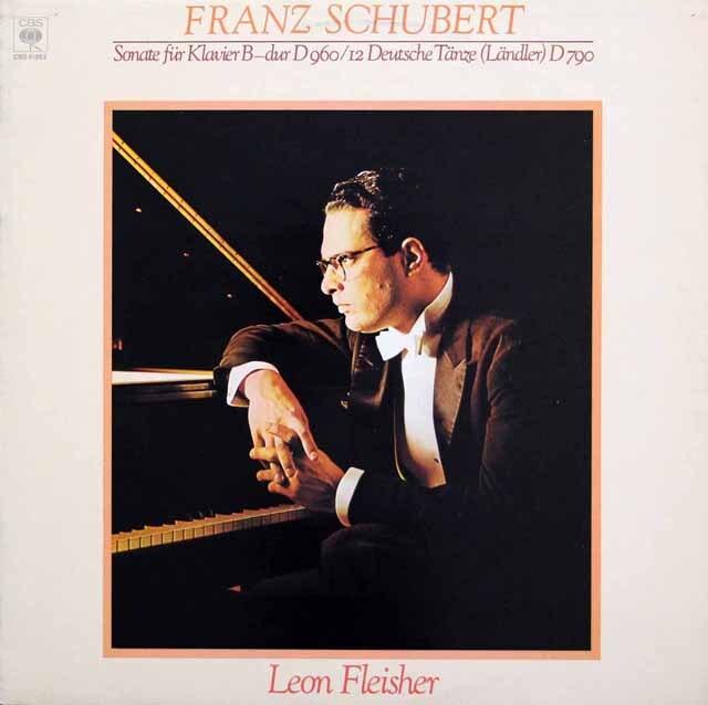フライシャーのシューベルト/ピアノソナタ第21番、12のドイツ舞曲 独CBS 3334 LP レコード