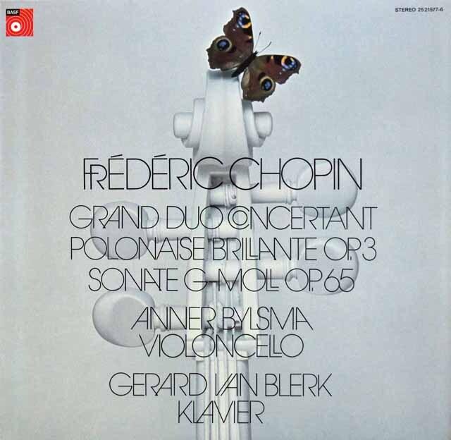 ビルスマのショパン/チェロソナタほか 独BASF 3334 LP レコード