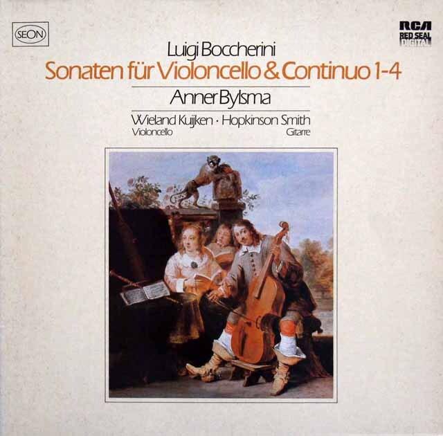 ビルスマのボッケリーニ/チェロと通奏低音のためのソナタ集 独RCA(SEON) 3334 LP レコード