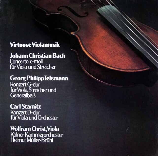 クリストのヴィオラ協奏曲集 独schwann 3334 LP レコード