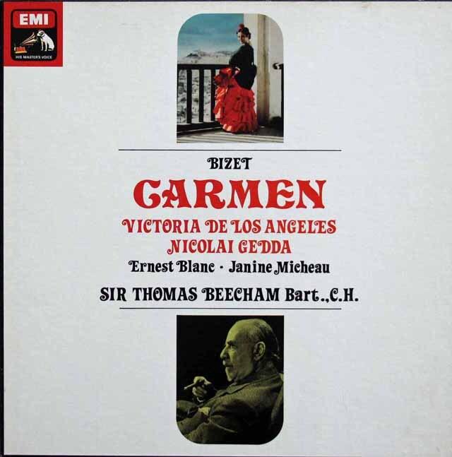 ロス・アンヘレス、ビーチャムのビゼー/「カルメン」全曲 英EMI 3334 LP レコード