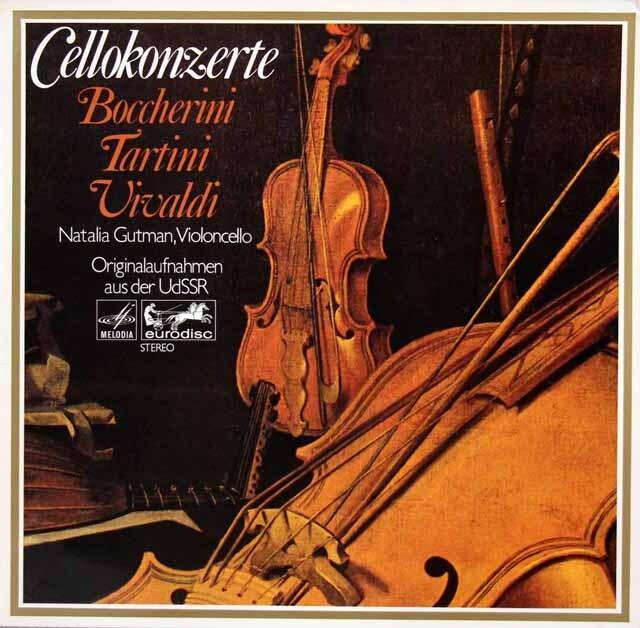 グートマンのボッケリーニ、ヴィヴァルディ、タルティーニ/チェロ協奏曲集 独eurodisc 3334 LP レコード