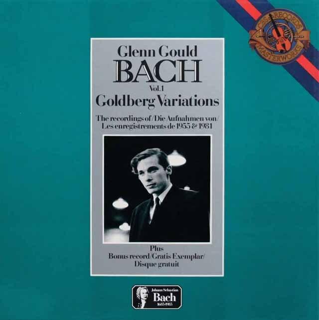 グールドのバッハ/ゴルトベルク変奏曲1955、1981年録音 蘭CBS 3334 LP レコード
