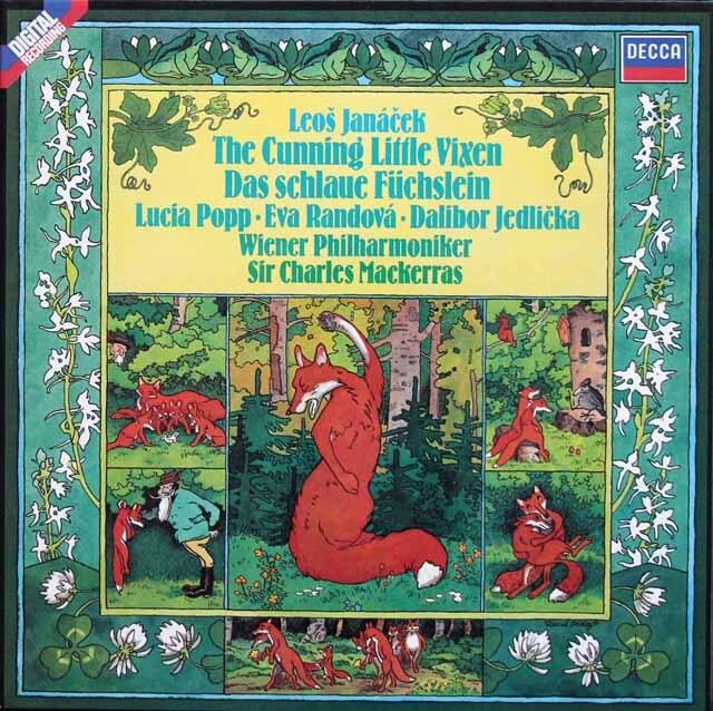 マッケラス・ポップらのヤナーチェク/「利口な女狐の物語」全曲 独DECCA 3334 LP レコード