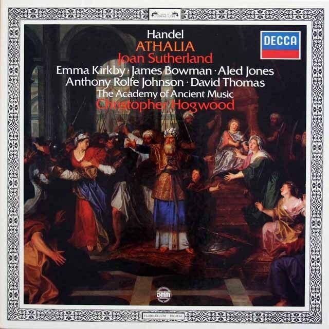 ホグウッドのヘンデル/オラトリオ「アタリア」 独DECCA 3334 LP レコード
