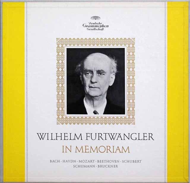 「フルトヴェングラー イン メモリアム」 ブルックナー/交響曲第9番ほか 独DGG 3334 LP レコード