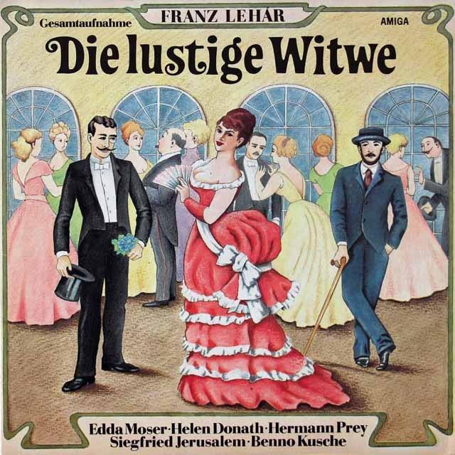 プライ&ワルベルクらのレハール/「メリー・ウィドウ」 独AMIGA 3296 LP レコード