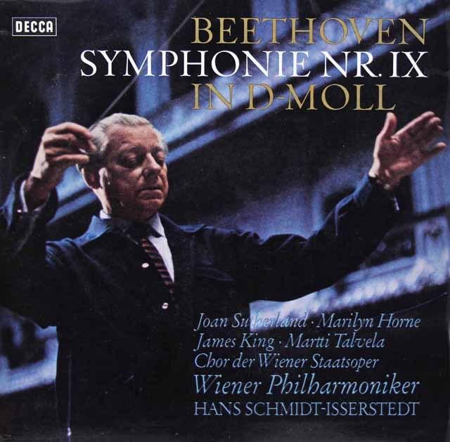 イッセルシュテットのベートーヴェン/交響曲第9番「合唱付き」 独DECCA 3296 LP レコード