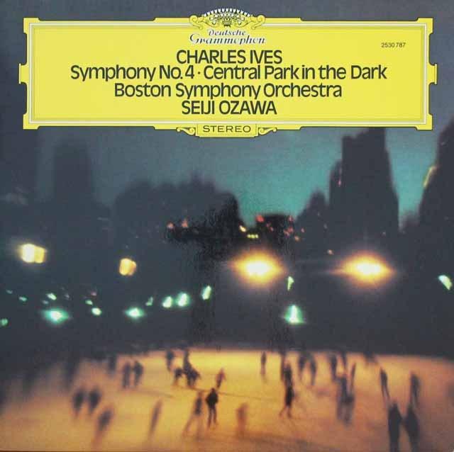 小澤のアイヴス/「宵闇のセントラルパーク」&交響曲第4番 独DGG 3297 LP レコード