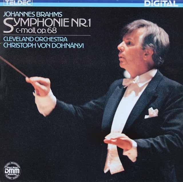 ドホナーニのブラームス/交響曲第1番 独TELDEC 3296 LP レコード