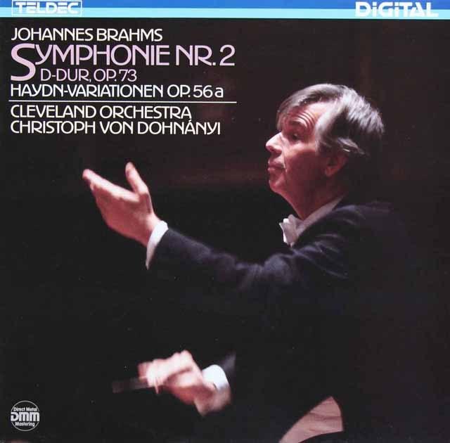 ドホナーニのブラームス/交響曲第2番ほか 独TELDEC 3296 LP レコード