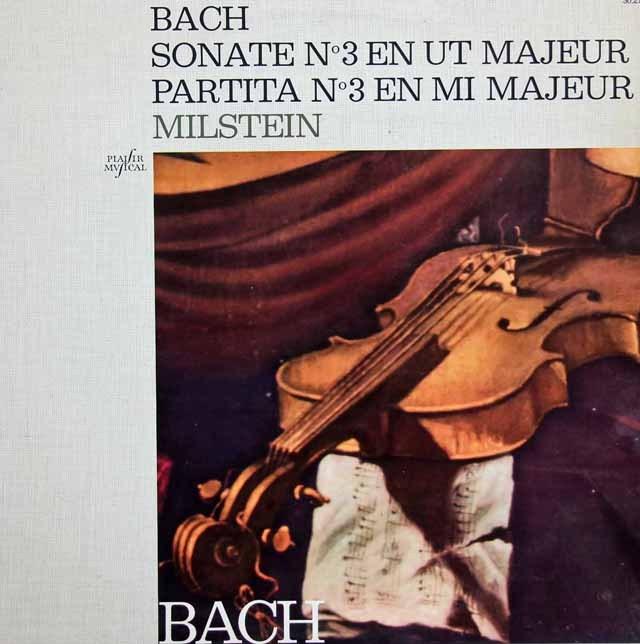 ミルシュタインのバッハ/無伴奏ソナタ&パルティータ第3番 仏Capitol 3296 LP レコード