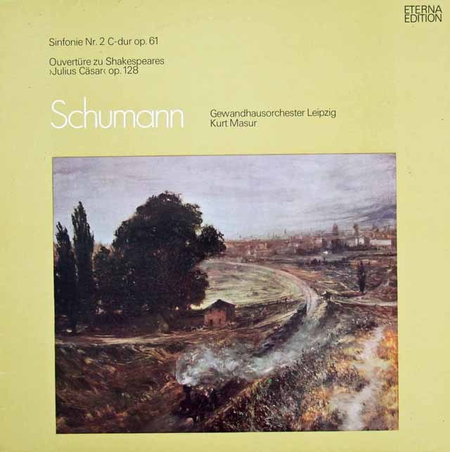 マズアのシューマン/交響曲第2番ほか 独ETERNA 3297 LP レコード