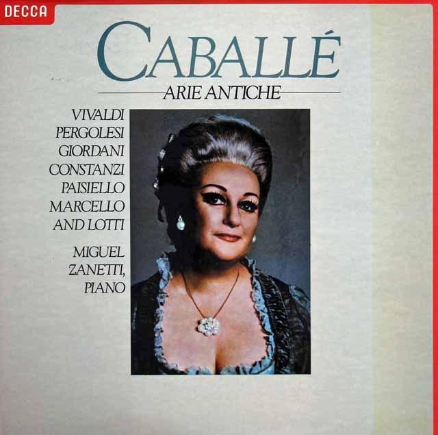カバリエ&ザネッティの古典歌曲集 蘭DECCA 3296 LP レコード