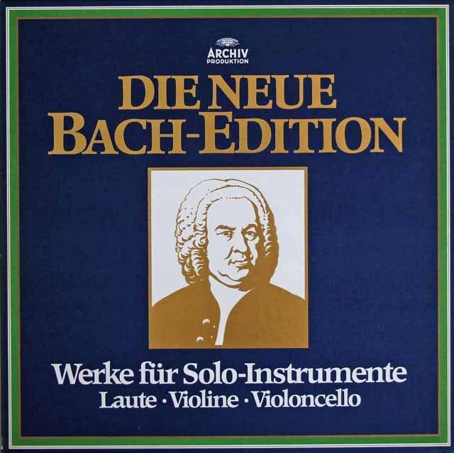 ミルシュタイン、フルニエ&セルシェルのバッハ/無伴奏作品集 独ARCHIV 2829 LP レコード