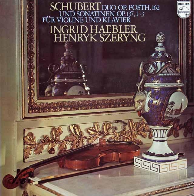 ヘブラー&シェリングのシューベルト/ヴァイオリンソナタ集 蘭PHILIPS 3296 LP レコード