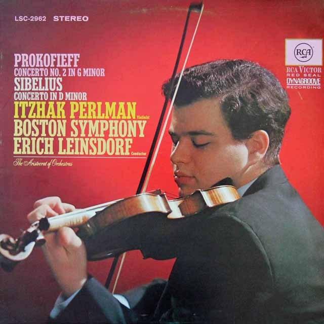 パールマン&ラインスドルフのプロコフィエフ/ヴァイオリン協奏曲ほか 独RCA 3297 LP レコード