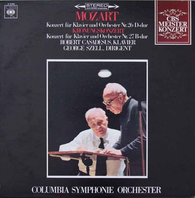 カサドシュ&セルのモーツァルト/ピアノ協奏曲第26&27番 蘭CBS 2823 LP レコード