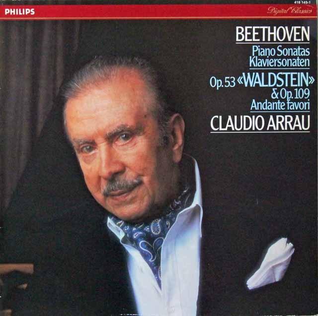 アラウのベートーヴェン/ピアノソナタ第21番「ヴァルトシュタイン」ほか 蘭PHILIPS 3298 LP レコード