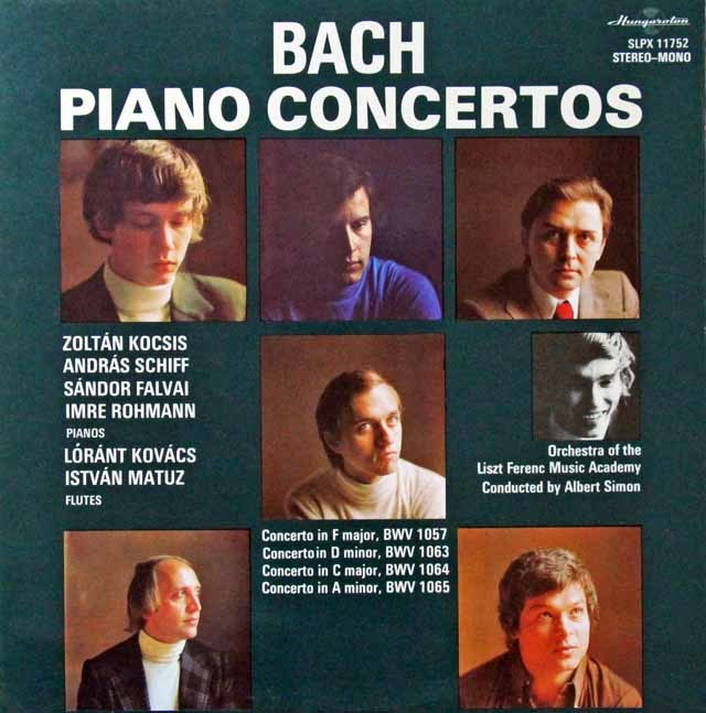 コチシュ&シフらのバッハ/ピアノ協奏曲集2 ハンガリーHungaroton 3298 LP レコード