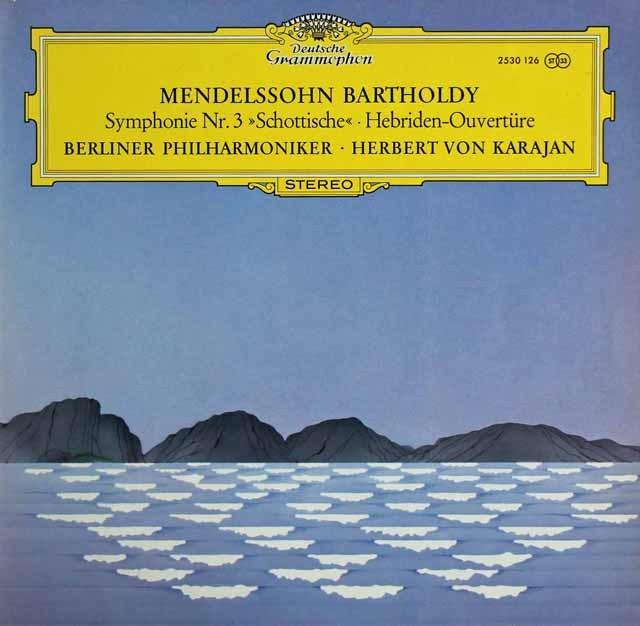カラヤンのメンデルスゾーン/交響曲第3番「スコットランド」ほか 独DGG 3296 LP レコード