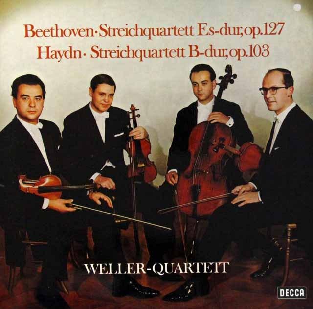ウェラー四重奏団のベートーヴェン/弦楽四重奏曲第12番ほか 独DECCA 2810 LP レコード