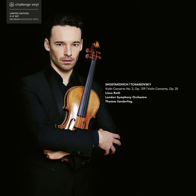 【LP レコード】 リナス・ロスのショスタコーヴィチ&チャイコフスキー/ヴァイオリン協奏曲集 <完全限定生産/シリアルナンバー付き> CC72840 2LP