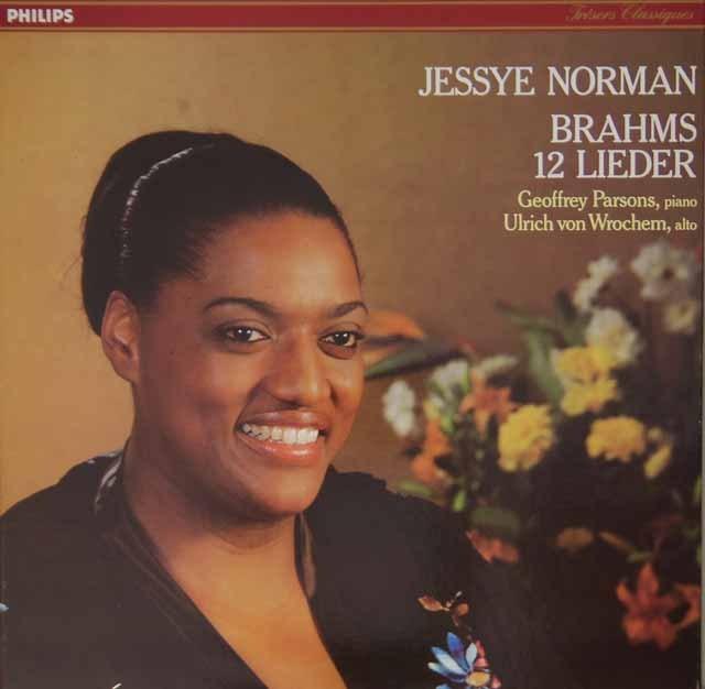 ジェシー・ノーマンのブラームス/歌曲集 仏PHILIPS 3227 LP レコード
