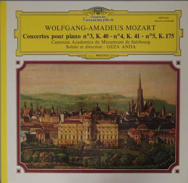 アンダのモーツァルト/ピアノ協奏曲第3、4、5番