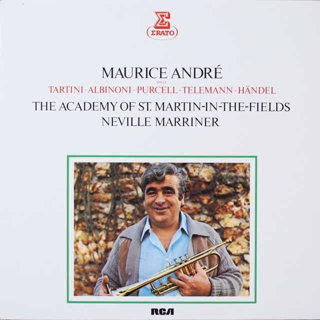 アンドレ、マリナーのトランペット協奏曲集 独ERATO 3331 LP レコード