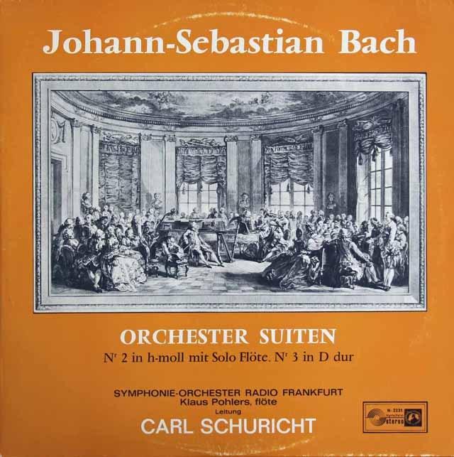 シューリヒトのバッハ/管弦楽組曲第2&3番 独CH 2926 LP レコード