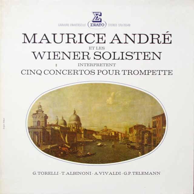 アンドレの5つのトランペット協奏集 仏ERATO 3331 LP レコード