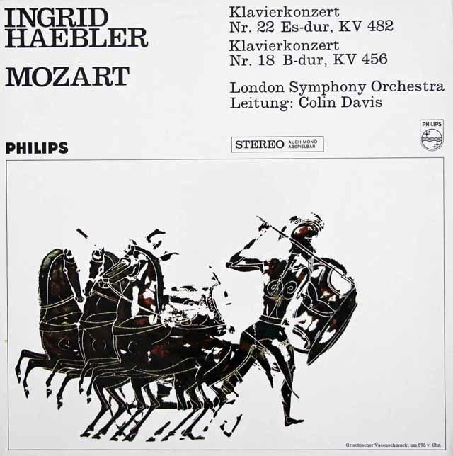 ヘブラー&デイヴィスのモーツァルト/ピアノ協奏曲第22&18番 蘭PHILIPS 3034 LP レコード