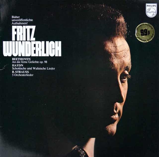 ヴンダーリヒのベートーヴェン/「遥かなる恋人に」ほか 蘭PHILIPS 3034 LP レコード