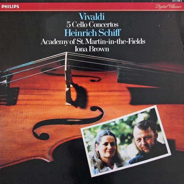 シフ&ブラウンのヴィヴァルディ/5つのチェロ協奏曲 蘭PHILIPS 3031 LP レコード