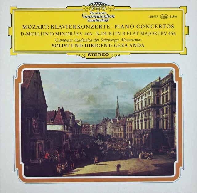 アンダのモーツァルト/ピアノ協奏曲第20&18番 独DGG 2930 LP レコード