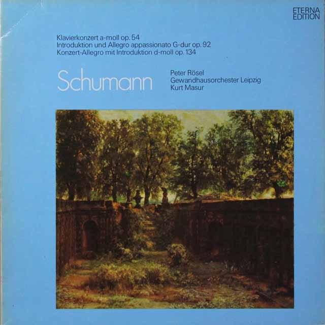 レーゼル&マズアのシューマン/ピアノ協奏曲ほか 独ETERNA  2702 LP レコード