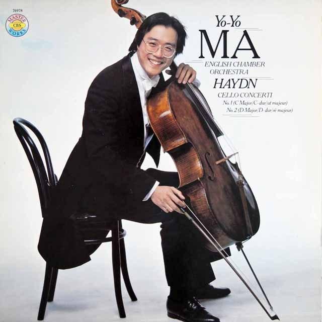 ヨーヨー・マのハイドン/チェロ協奏曲第1&2番 独CBS 3281 LP レコード