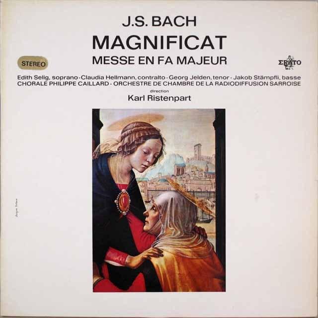 リステンパルトのバッハ/マニフィカトほか  仏ERATO  2631 LP レコード
