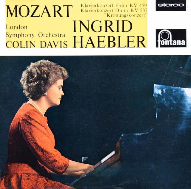 ヘブラー&デイヴィスのモーツァルト/ピアノ協奏曲第19&26番「戴冠式」 蘭fontana 3031 LP レコード