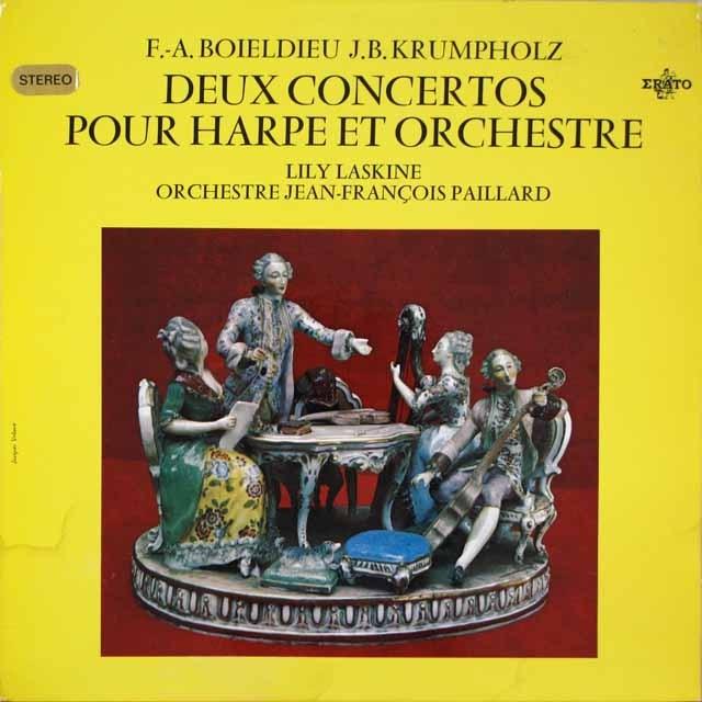 ラスキーヌ&パイヤール/ハープ協奏曲集  仏ERATO  2631 LP レコード