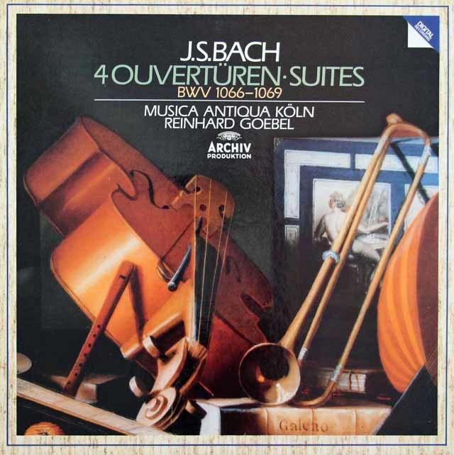 ゲーベル&ムジカ・アンティクヮ・ケルンのバッハ/管弦楽組曲集(第1~4番全曲) 独ARCHIV 3031 LP レコード