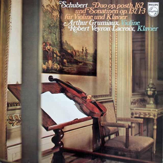 グリュミオー&ラクロワのシューベルト/二重奏曲ほか 蘭PHILIPS 3281 LP レコード