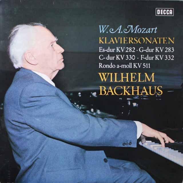 バックハウスのモーツァルト/ピアノソナタ集 独DECCA 3331 LP レコード