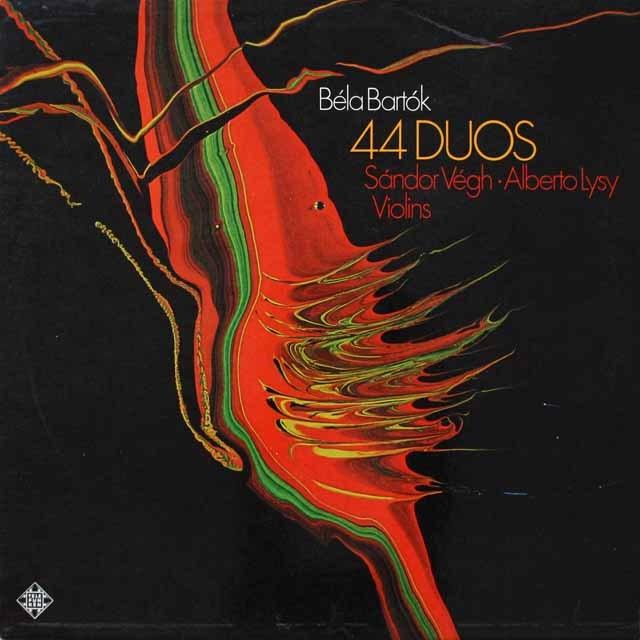 ヴェーグ、リジーのバルトーク/二重奏曲 (テストプレス盤) 独TELEFUNKEN 3331 LP レコード